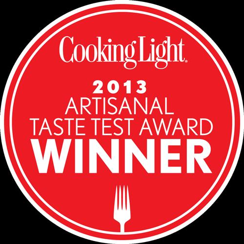 Winner of the 2013 Cooking Light Artisanal Taste Test Award