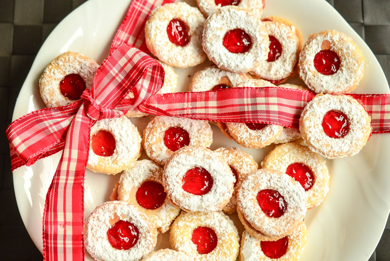 Butter and Jam Thumbprint Cookies