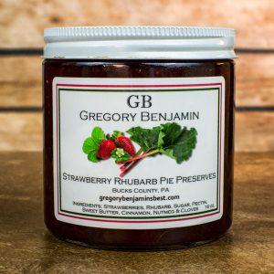 strawberry rhubarb pie preserves